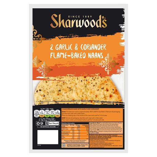 Picture of Sharwood's 2 Garlic & Coriander Naans
