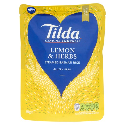 Picture of Tilda Microwave Lemon & Herbs Basmati Rice 250g