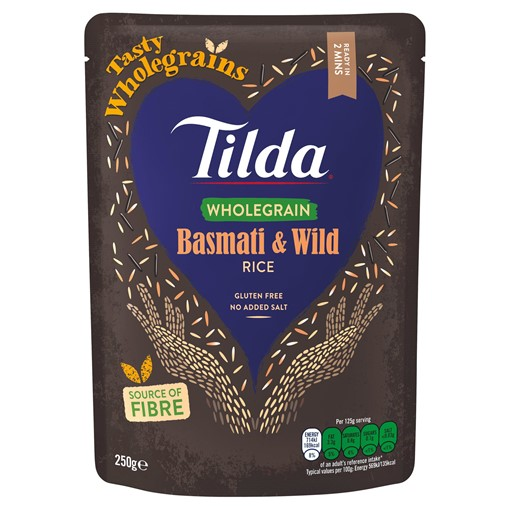 Picture of Tilda Wholegrain Basmati and Wild Rice 250g