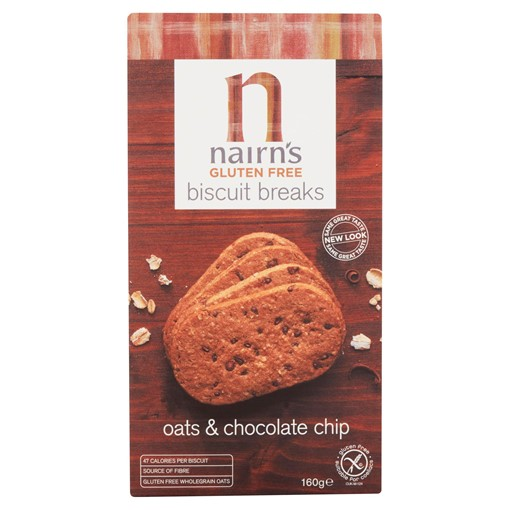Picture of Nairn's Gluten Free Biscuit Breaks Oats & Chocolate Chip 160g