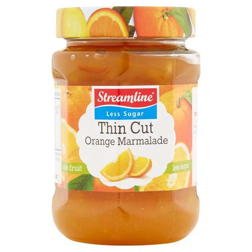 Picture of Streamline Less Sugar Thin Cut Orange Marmalade 340g