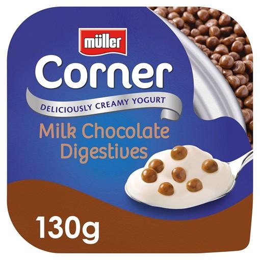 Picture of Müller Corner Vanilla Yogurt with Chocolate Digestive Biscuits 130g