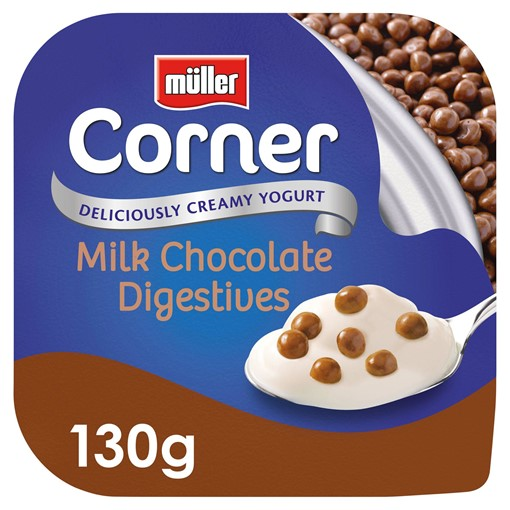 Picture of Muller Corner Vanilla Yogurt with Chocolate Digestive Biscuits 130g