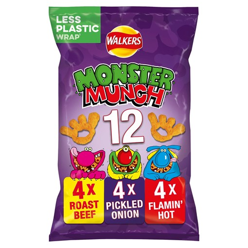 Picture of Walkers Monster Munch Variety Multipack Snacks 12x22g