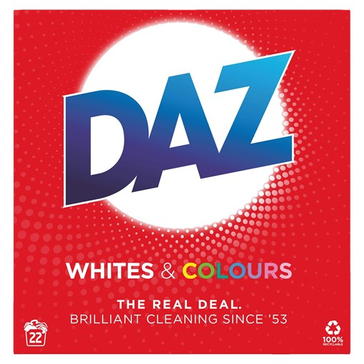 Picture of Daz Washing Powder Whites & Colours 1.43Kg 22 Washes