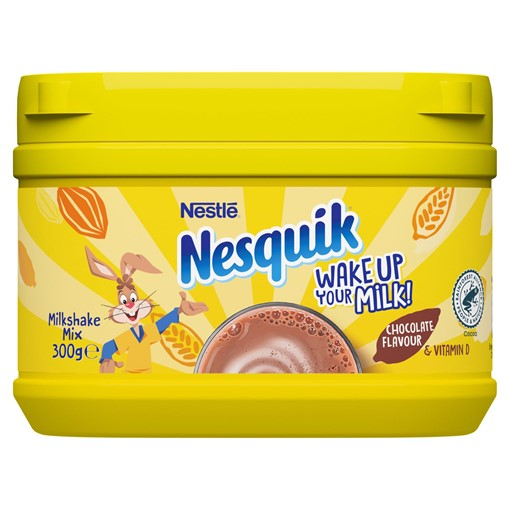 Picture of Nesquik Chocolate Flavoured Milkshake Powder 300g Tub