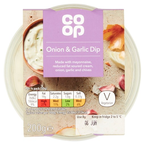 Picture of Co-op Onion & Garlic Dip 200g