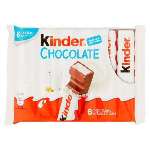 Picture of Kinder Medium Chocolate Bars 6 x 21g (126g)