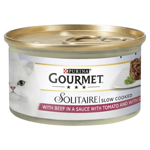 Picture of Gourmet Solitaire Tinned Cat Food with Beef 85g