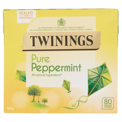 Picture of Twinings Pure Peppermint 80 Single Tea Bags 160g