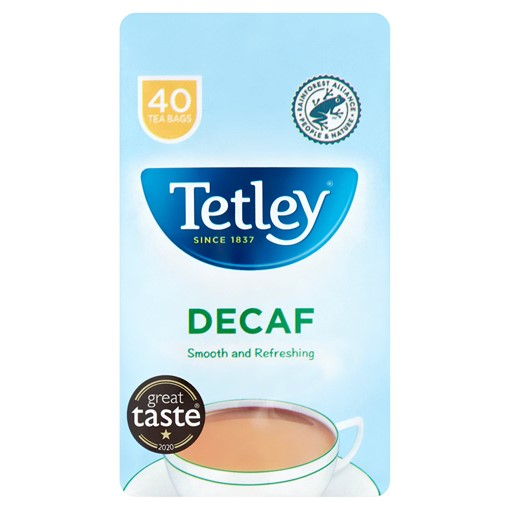 Picture of Tetley Decaf 40 Tea Bags 125g