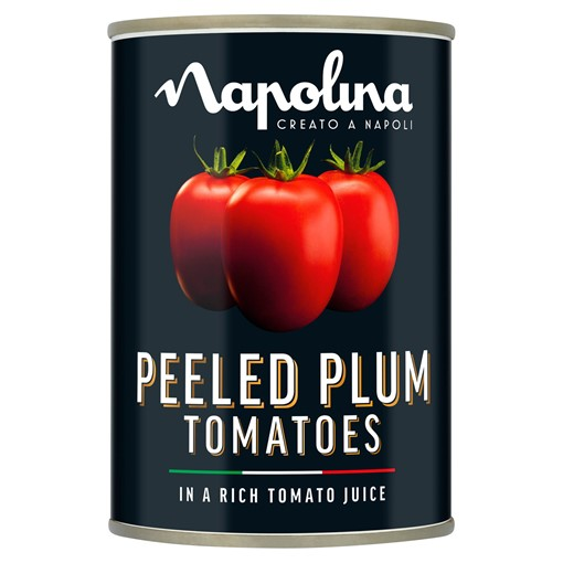 Picture of Napolina Peeled Plum Tomatoes in a Rich Tomato Juice 400g