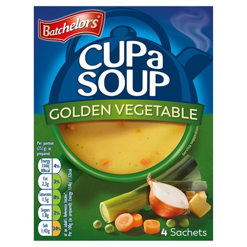 Picture of Batchelors Cup a Soup Golden Vegetable 4 Sachets 82g