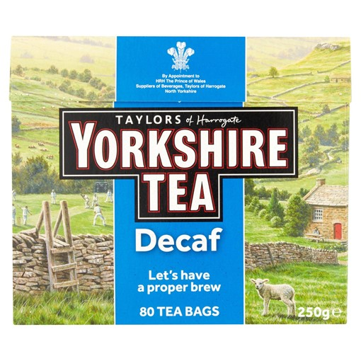 Picture of Taylors of Harrogate Yorkshire Tea Decaf 80 Tea Bags 250g