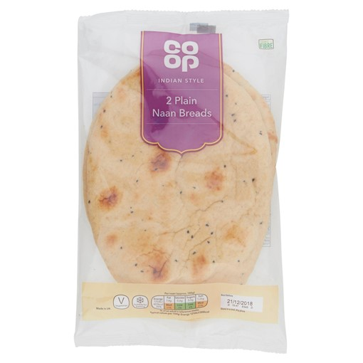 Picture of Co Op 2 Indian Style Plain Naan Breads