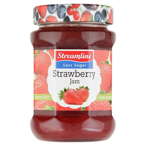 Picture of Streamline Less Sugar Strawberry Jam 340g