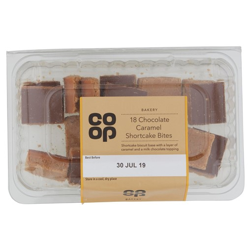 Picture of Co-op Bakery 18 Chocolate Caramel Shortcake Bites