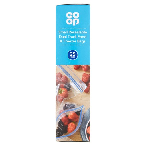 Picture of Co-op 25 Small Resealable Dual Track Food & Freezer Bags