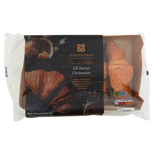 Picture of Co-op Irresistible All Butter Croissants