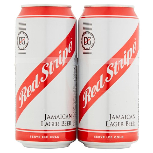 Picture of Red Stripe Jamaica Lager Beer 4 x 440ml Cans