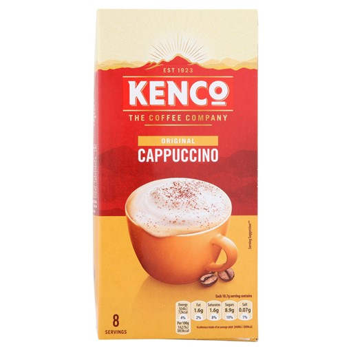 Picture of Kenco Cappuccino Instant Coffee Sachets x8