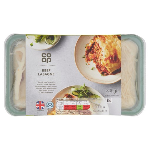 Picture of Co-op Beef Lasagne 800g
