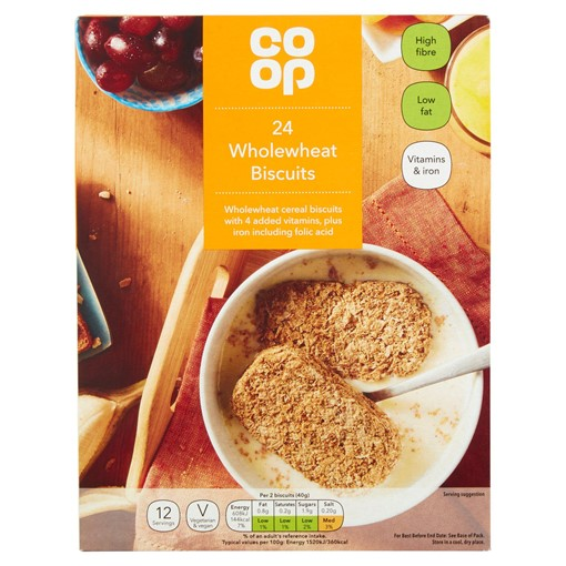Picture of Co-op 24 Wholewheat Biscuits