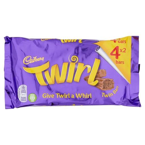 Picture of Cadbury Twirl Chocolate Bar 4 Pack 136g