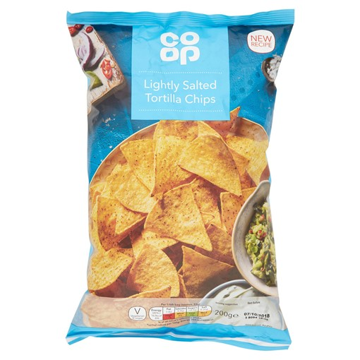 Picture of Co-op Lightly Salted Tortilla Chips 200g