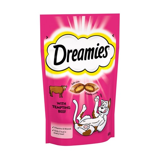 Picture of Dreamies Adult 1+ Cat Treats with Beef 60g