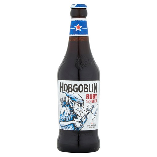Picture of Wychwood Brewery Hobgoblin Traditionally Crafted Legendary Ruby Beer 500ml