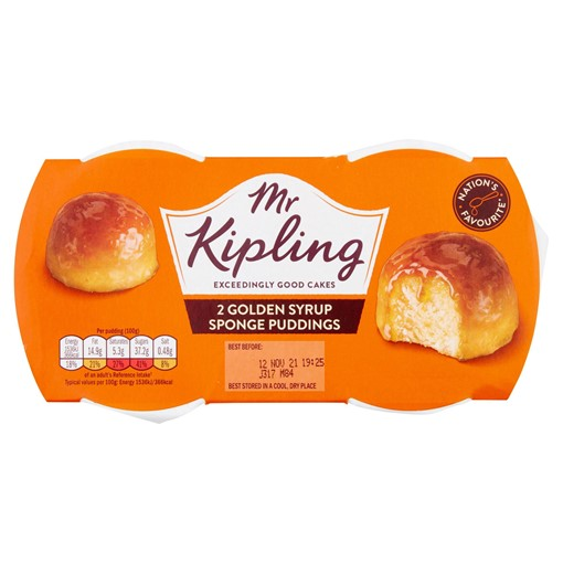 Picture of Mr Kipling Golden Syrup Sponge Puddings 2 x 95g