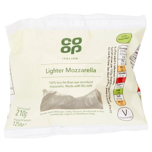 Picture of Co-op Italian Lighter Mozzarella 210g