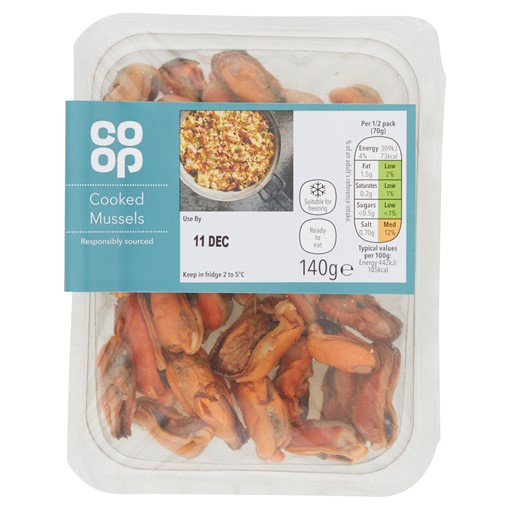 Picture of Co Op Cooked Mussels 140g