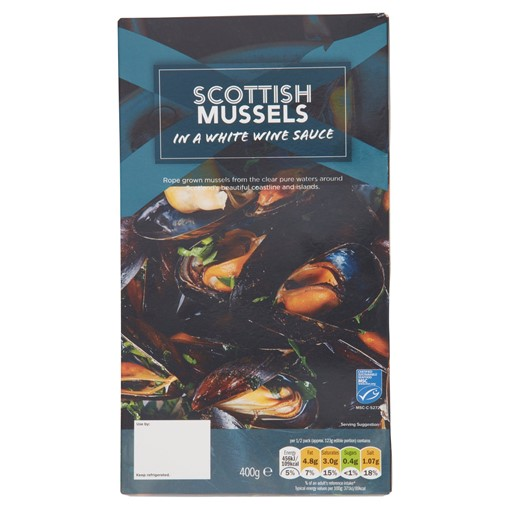 Picture of Scottish Shellfish Scottish Mussels in a White Wine Sauce 400g