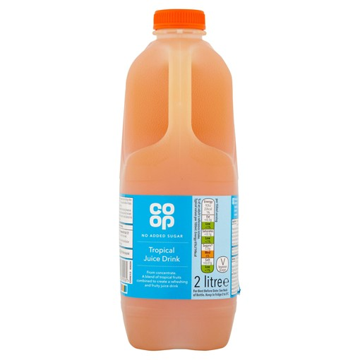 Picture of Co Op No Added Sugar Tropical Juice Drink 2 Litre