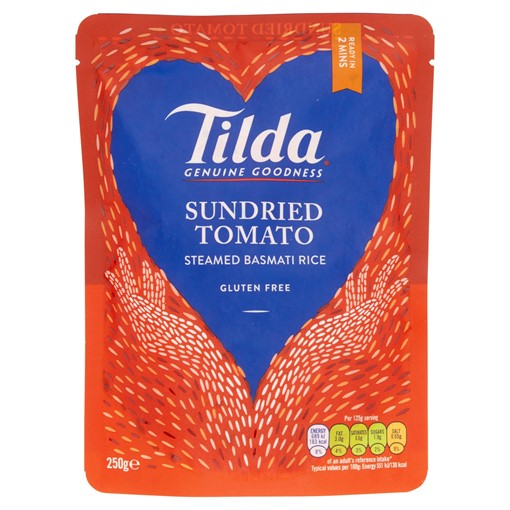 Picture of Tilda Microwave Tomato and Basil Basmati Rice 250g