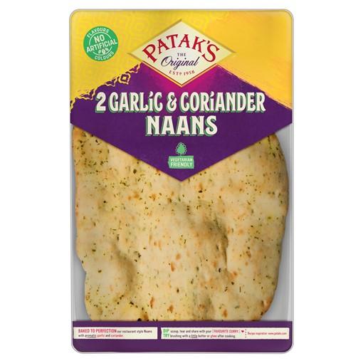 Picture of Patak's 2 Garlic & Coriander Naans
