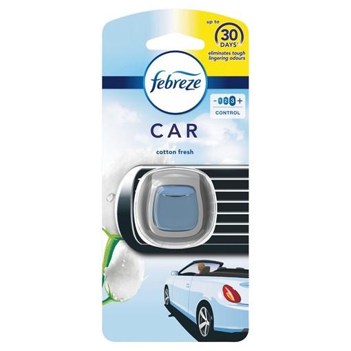 Picture of Febreze Car Air Freshener Starter Kit Cotton 1 Unit