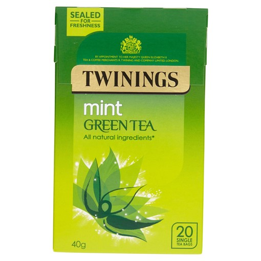 Picture of Twinings Mint Green Tea 20 Single Tea Bags 40g