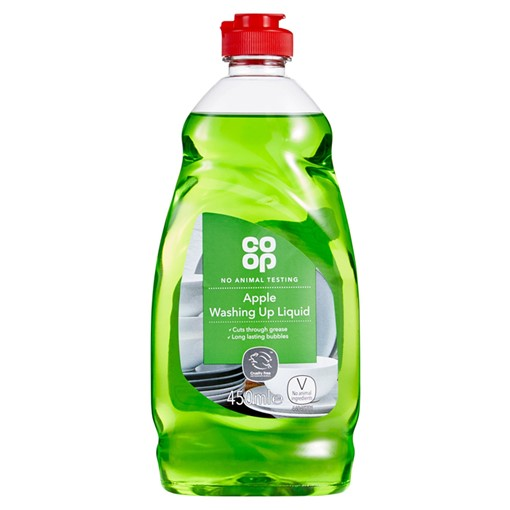 Picture of Co Op Apple Washing Up Liquid 450ml