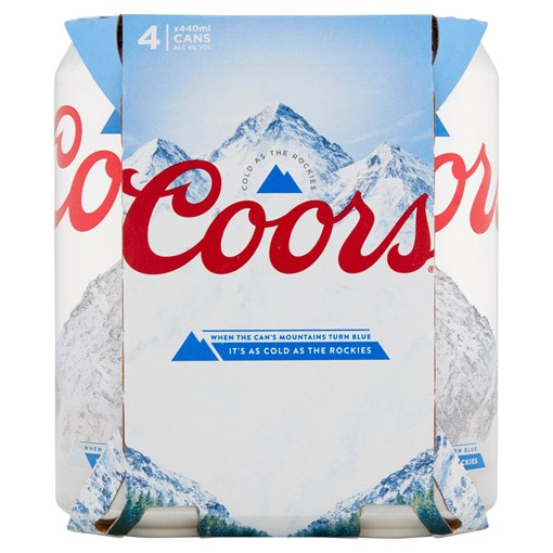 Picture of Coors Lager 4 x 440ml