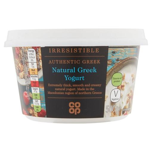 Picture of Co Op Irresistible Natural Greek Yogurt 500g