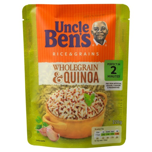 Picture of Uncle Bens Wholegrain and Quinoa Microwave Rice 220g