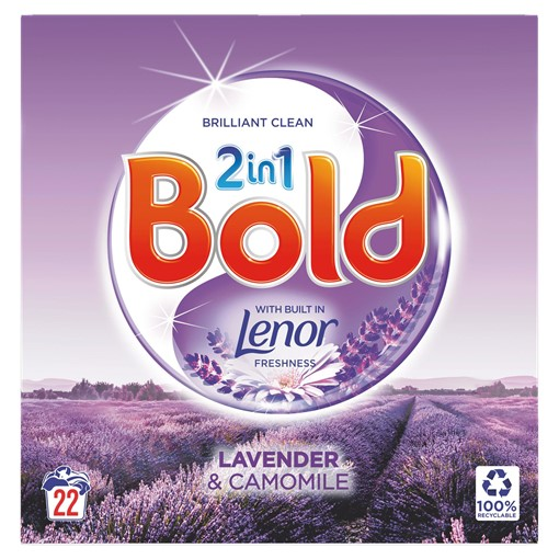 Picture of Bold 2in1 Washing Powder Lavender & Camomile 1.43Kg 22 Washes