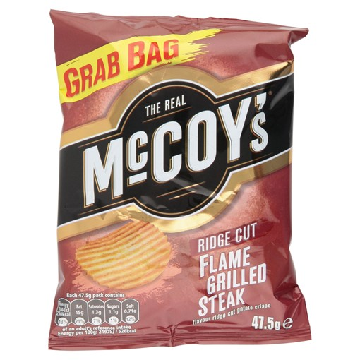 Picture of The Real McCoy's Flame Grilled Steak Ridge Cut Potato Crisps 47.5g