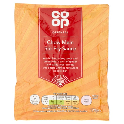 Picture of Co-op Oriental Chow Mein Stir Fry Sauce 120g