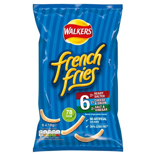 Picture of Walkers French Fries Variety Multipack Snacks 6x18g