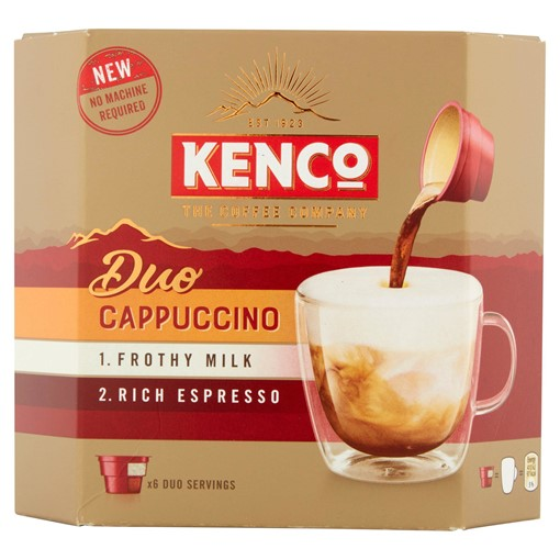 Picture of Kenco Duo Cappuccino Instant Coffee x6