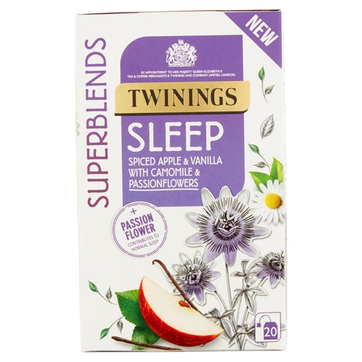 Picture of Twinings Superblends Sleep 20 Spiced Apple & Vanilla with Camomile & Passionflowers 30g